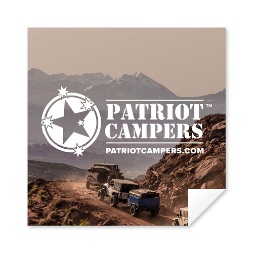 PATRIOT CAMPERS SQUARE STICKER